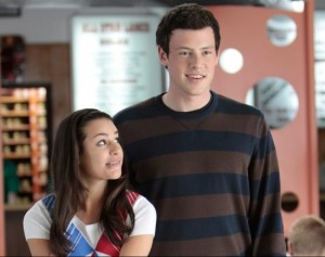 Glee Finn and Rachel are stars of the show
