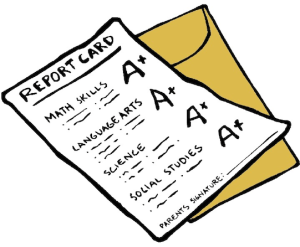 report cards, bad grading